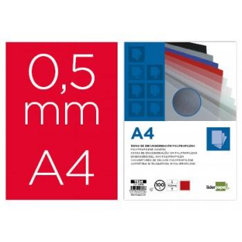 Capa De Encadernação A4 PP 500 Microns Opaco Vermelha 100 unidades