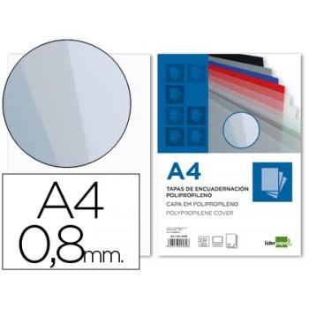 Capa De Encadernação A4 PP 800 Microns Transparente 50 Unidades