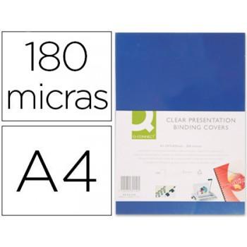 Capa De Encadernação A4 PVC 180 Microns Opaco Azul 100 unidades