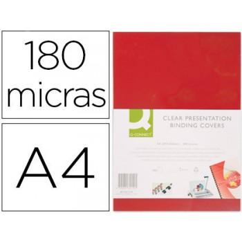 Capa De Encadernação A4 PVC 180 Microns Opaco Vermelho 100 unidades