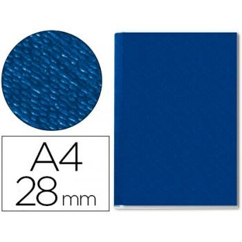 Capa De Encadernação Lombada 28mm A4 Rígida Channel Azul 10 Unidades