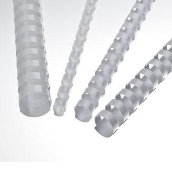 Espiral Plástica 25mm Branca (50 unidades)