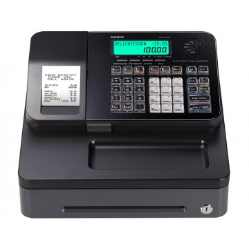 Caixa Registadora Casio SE-S100 24 Departamentos Display LCD Gaveta Pequena Preta