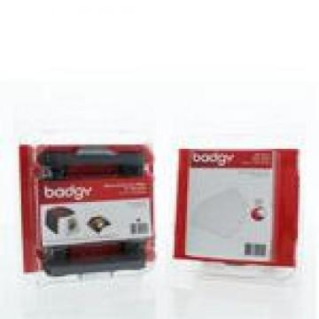 Kit De Consumível Para Impressora Badgy 100 Fita De Cor e 100 Cartões