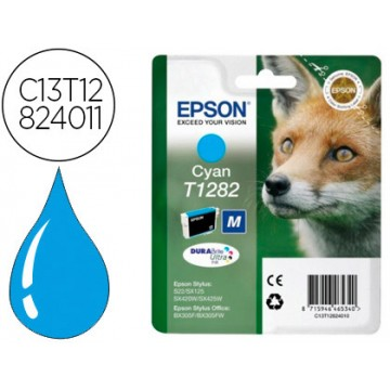 Tinteiro EPSON Original T1282 Stylus S22 Cyan
