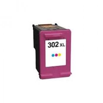 Tinteiro HP Nº 302 XL Compatível (F6U67A) Cor