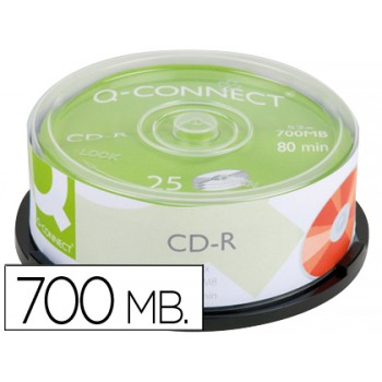 CD-R 700Mb Q Connect Pack 25 Unidades